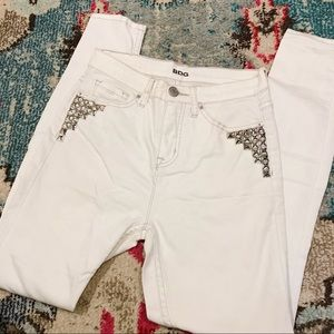 Urban Outfitters Jeans - Urban Outfitters White Studded Jeans